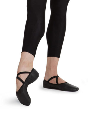 Capezio Men's Leather Romeo Ballet Shoe - Black - Style:2020