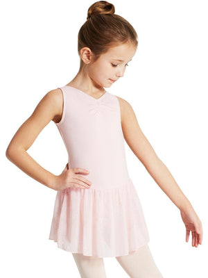 Capezio Pinch Front Tank Dress - Girls - Pink - Style:11309C