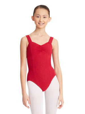 Capezio Princess Tank Leotard - Red - Front - Style:CC202
