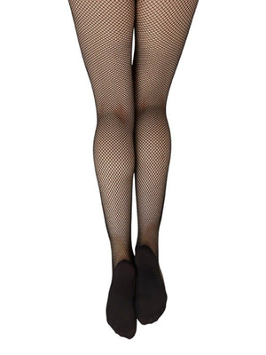 Capezio Professional Fishnet Seamless Tight - Black - Front - Style:3000