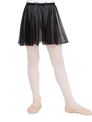 Capezio Pull On Circular Skirt - Girls - Black - Front - Style:N1417C