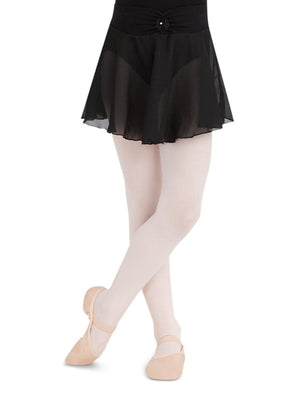 Capezio Pull On Skirt Georgette - Girls - Black - Front - Style:N9635C