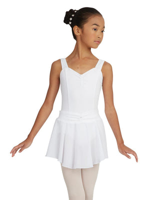 Capezio Pull On Skirt Georgette - Girls - White - Front - Style:N9635C