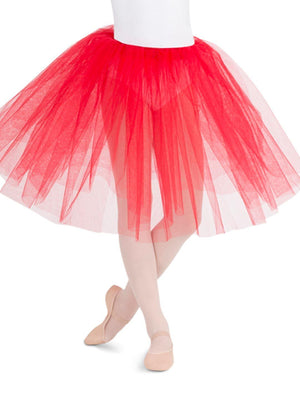 Capezio Romantic Tutu - Girls - Red - Front - Style:9830C