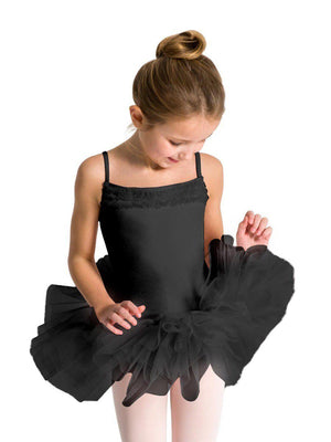 Capezio Ruffle Yoke Tutu Dress - Girls - Black - Style:11307C