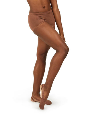 Capezio Seamless Boy Cut Short - Brown - Front - Style:3756W