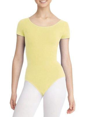 Capezio Short Sleeve Leotard - Yellow - Style:CC400