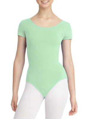 Capezio Short Sleeve Leotard - Green - Style:CC400