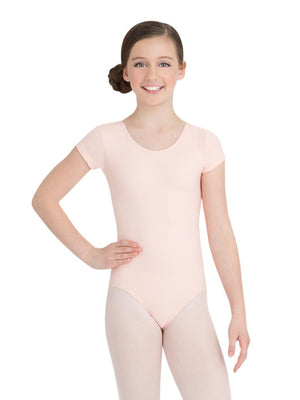 Capezio Short Sleeve Leotard - Girls - Pink - Front - Style:TB132C