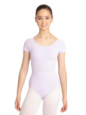 Capezio Short Sleeve Leotard - Purple - Front - Style:CC400