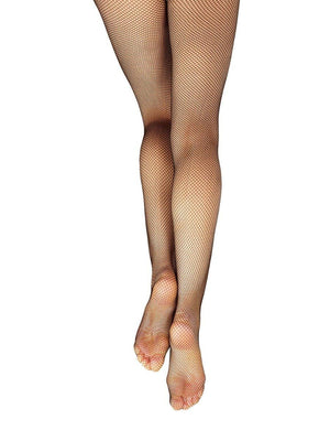 Capezio Studio Basics Fishnet Seamless Tight - Black - Front - Style:3407