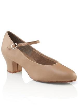 Capezio Suede Sole Jr. Footlight Character Shoe - Tan - Style:459