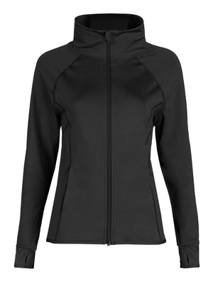 Capezio Team Spirit Jacket - Girls - Black - Front - Style:10973C