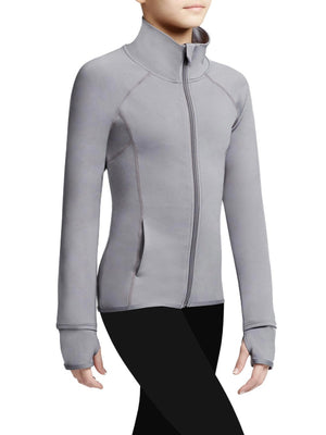 Capezio Team Spirit Jacket - Girls - Gray - Side - Style:10973C