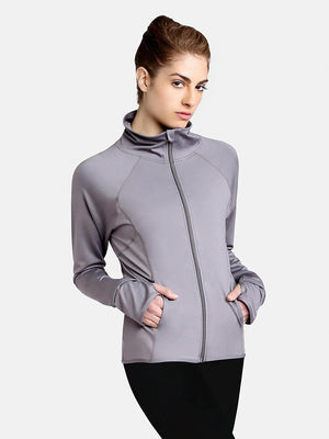 Capezio Team Spirit Jacket - Gray - Front - Style:10973W