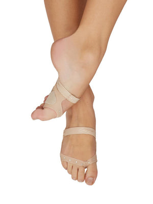 Capezio Thongz® footUndeez - Tan - Front - Style:H07TR