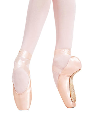 Capezio Tiffany Pointe Shoe - Pink - Front - Style:126