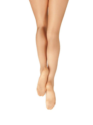 Capezio Ultra Shimmery Footed Tight - Tan - Front - Style:1808