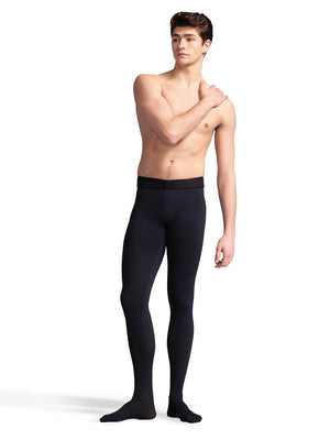Capezio Men's Ultra Soft™ Footed Tight - Black - Front - Style:10361M