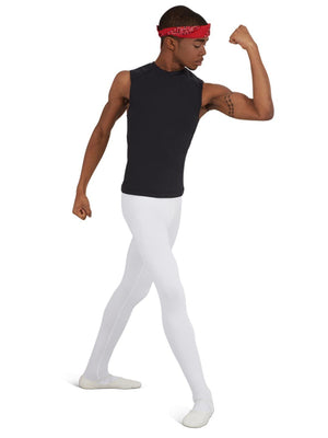 Capezio Men's Ultra Soft™ Footed Tight - White - Front - Style:10361M
