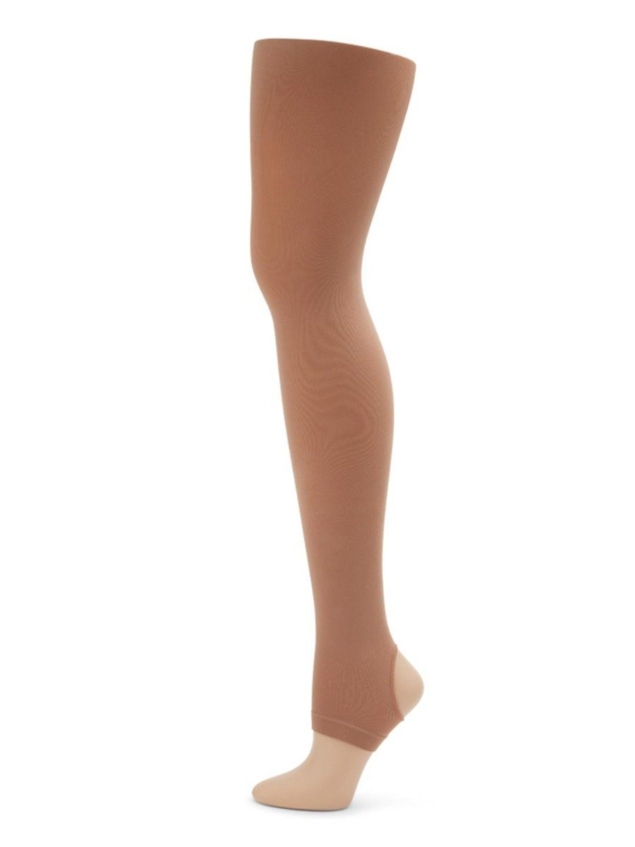 Capezio Womens Ultra Soft Footed Tight With Self-knit Waistband