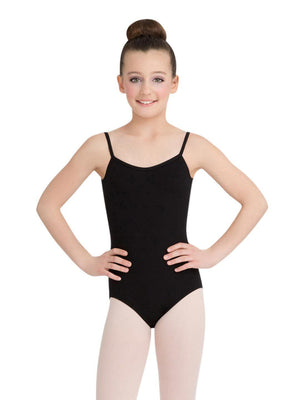 Capezio V-Neck Camisole Leotard - Girls - Black - Front - Style:CC102C