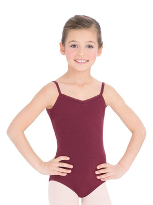 Capezio V-Neck Camisole Leotard - Girls - Red - Front - Style:CC102C