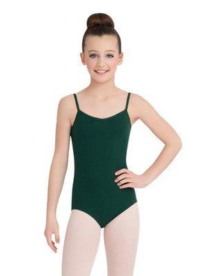 Capezio V-Neck Camisole Leotard - Girls - Green - Front - Style:CC102C