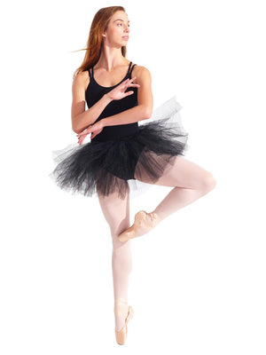 Capezio Waiting for a Prince Tutu Skirt - Black - Front - Style:10728W
