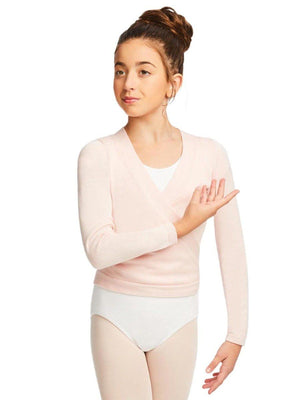 Capezio Wrap Sweater - Girls - Pink - Style:CK10949C