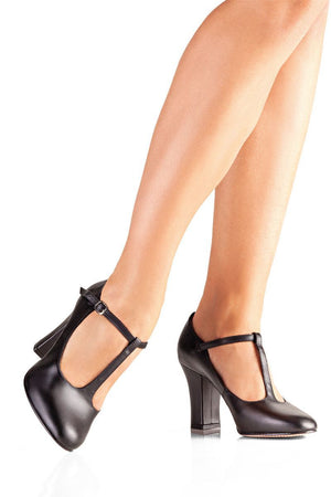 "So Danca CH110 3"" Heel Leather Sole Tstrap Character Shoe"