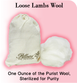 Pillows For Pointe Loose Lambs Wool
