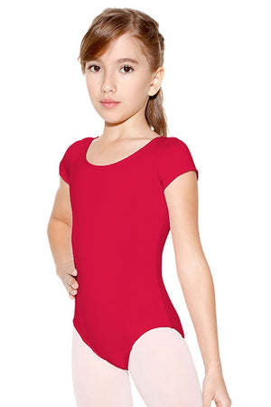 So Danca SL13/D156 Princess Cut Capped Sleeve Microfiber Leotard
