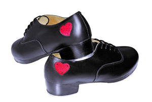 So Danca TA805V Women's Professional Leather Tap Shoe with Leather Sole and Red Heart