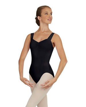 Capezio;Wide;Strap;Leotard;Black;TC0053W