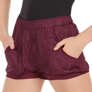 Eurotard 70748 Warm Up Shorts- Adult - close up - front