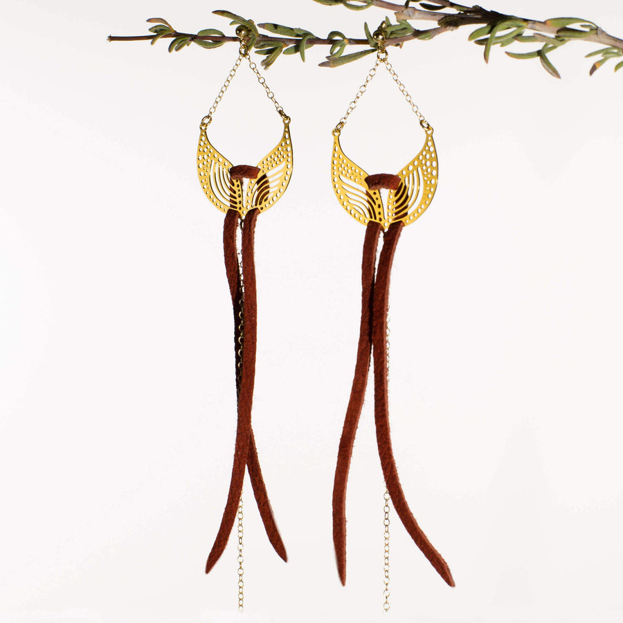Alual Earrings 1 (Gold-plated)
