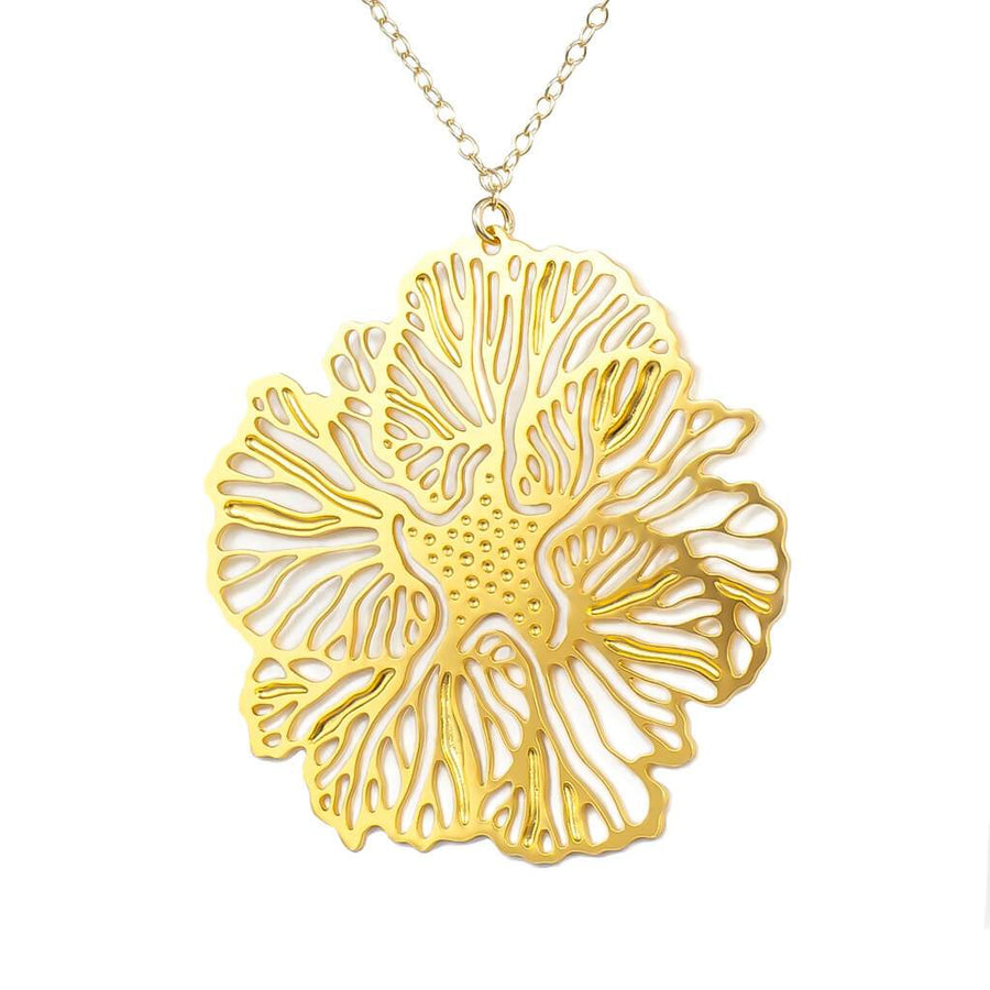 Floral Pendant 1  (Gold-plated)
