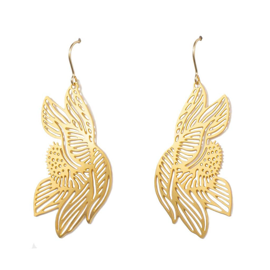 Lotus Earrings 1  (Gold-plated)