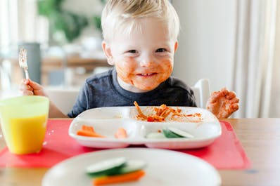 Teaching children good eating habits