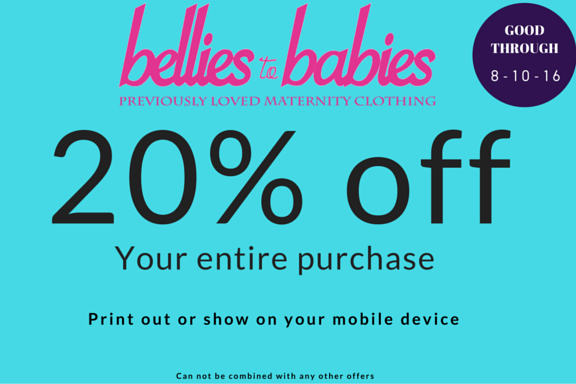 Bellies to Babies maternity coupon
