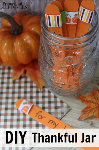 DIY Thankful Jar for Kids