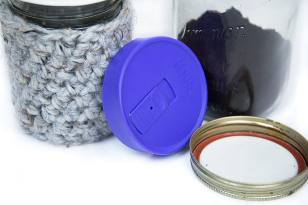 mason jar coffee cozy and intelligent lid