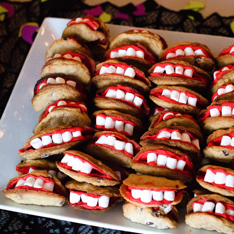 Halloween mouth cookies