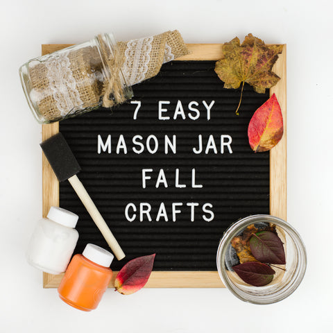 7 mason jar fall crafts