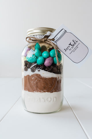 Jars by Jodi Easter Egg Brownie Mix in a Mason Jar