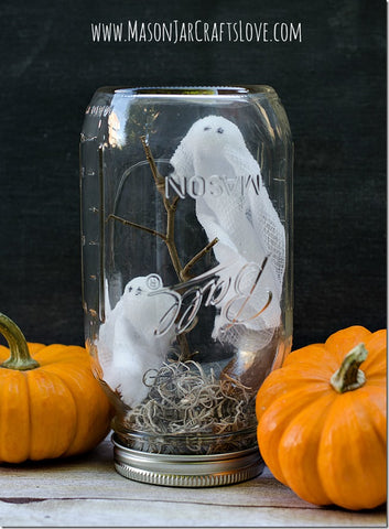 Ghosts in a Mason Jar from Mason Jar Crafts Love
