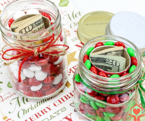 Hidden Christmas Gift Jars DIY from My Home Based Life