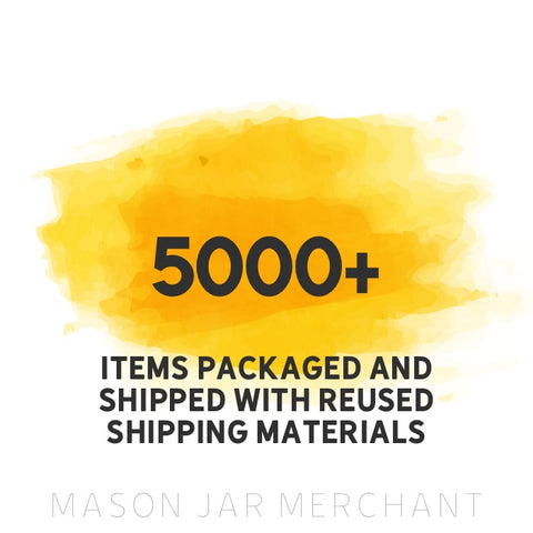 5000+ items packaged and shipped with reused shipping materials