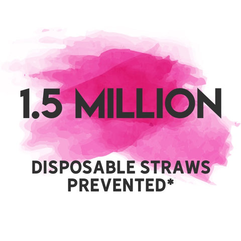 1.5 million disposable straws prevented
